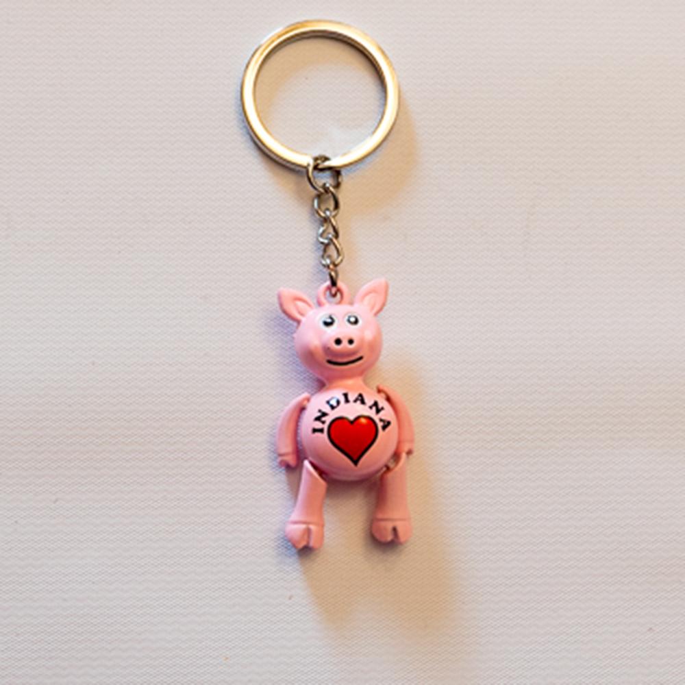 Pink Pig Keychain  4dd219e2ec42